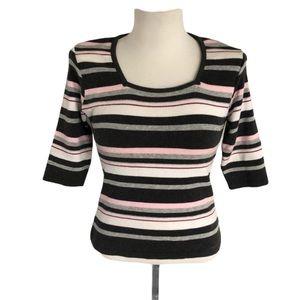 Windsor Striped Sweater Size Medium